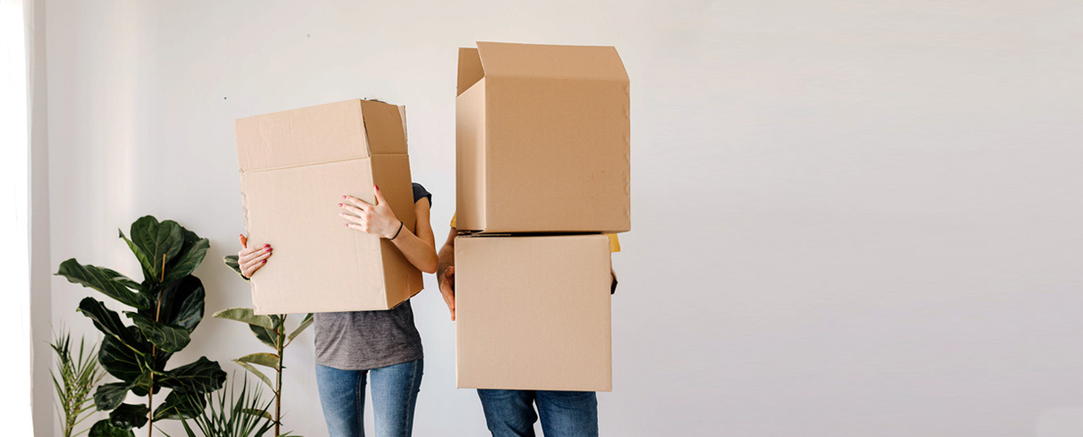Photo of moving boxes