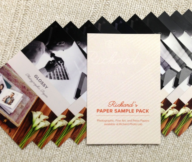 Fine Art and Photo Paper Sample Pack from Richard Photo Lab