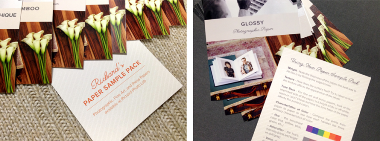 Images of Richard Photo Lab's Paper Sample Packs