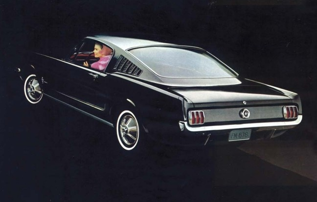 A 1965 Ford Mustang Fastback