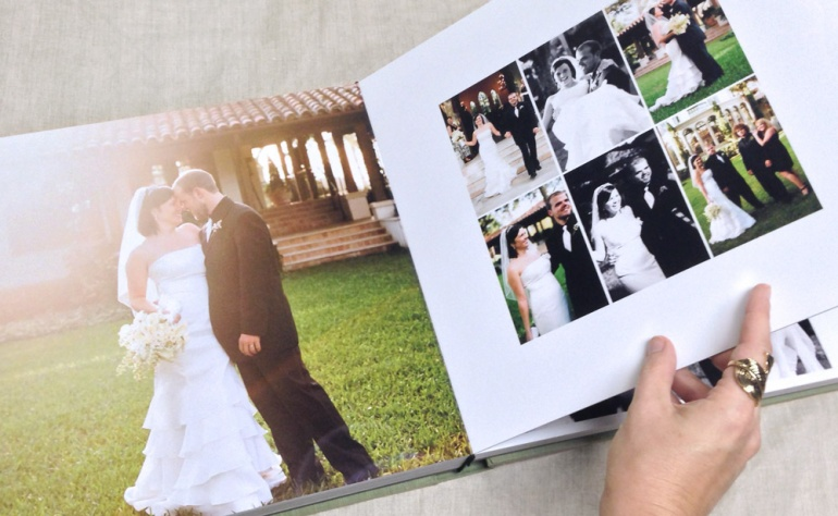 A wedding album, with photo prints by Richard Photo Lab