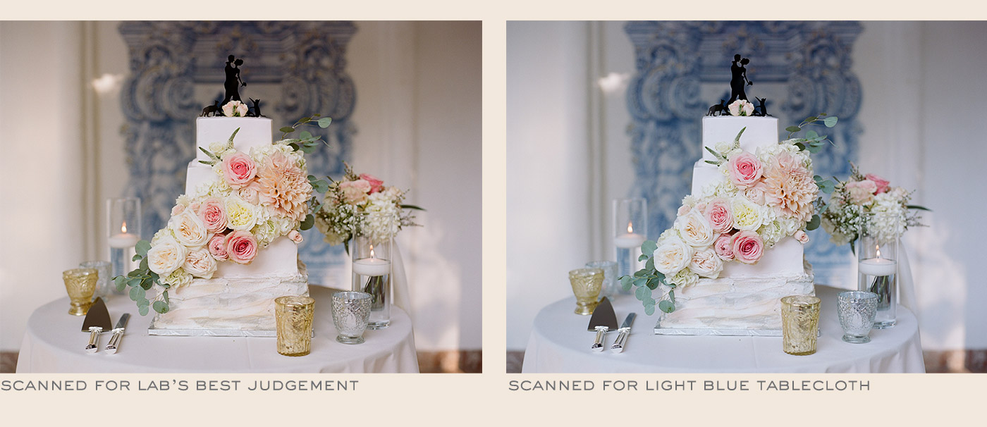 Color difference between two photos scanned with a different object focus
