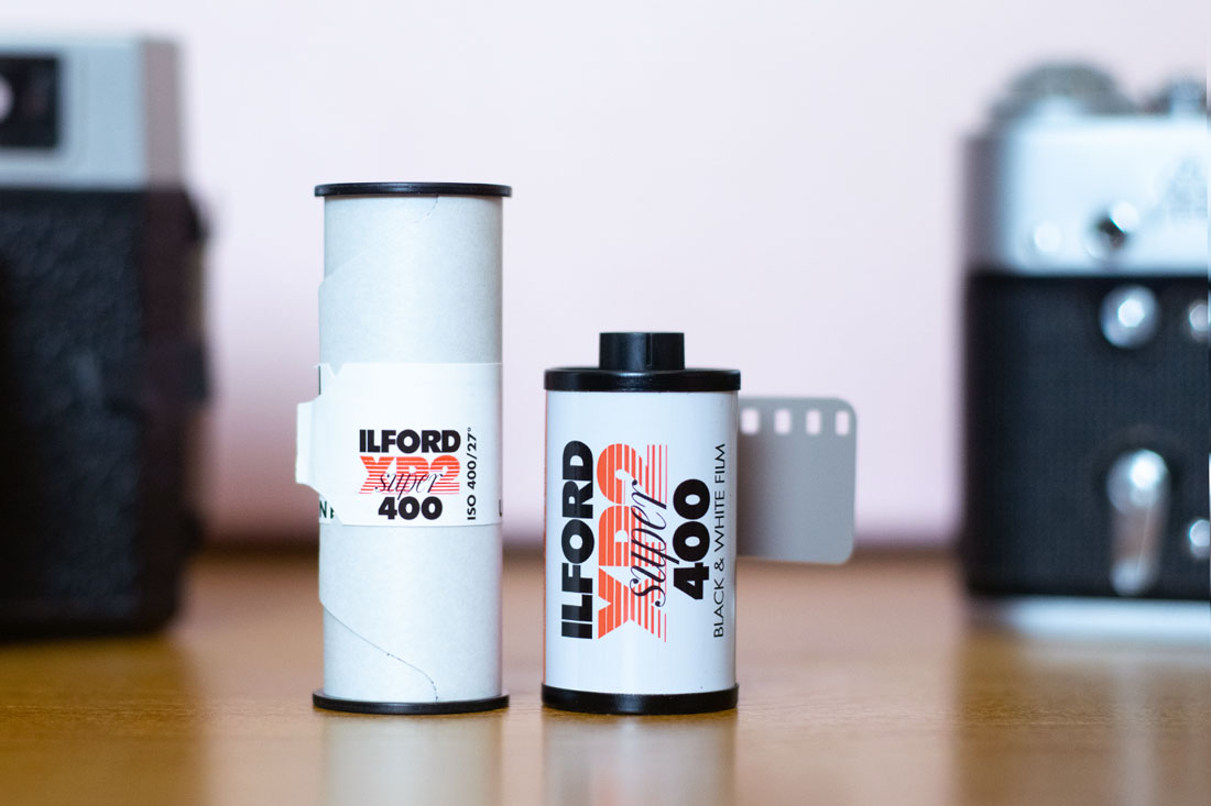 Ilford XP2 Super 400 120 and 35mm rolls