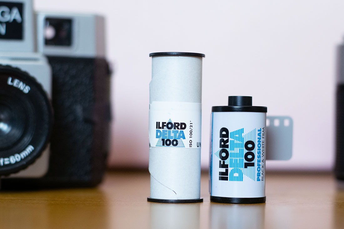 Ilford Delta 100 120 and 35mm rolls