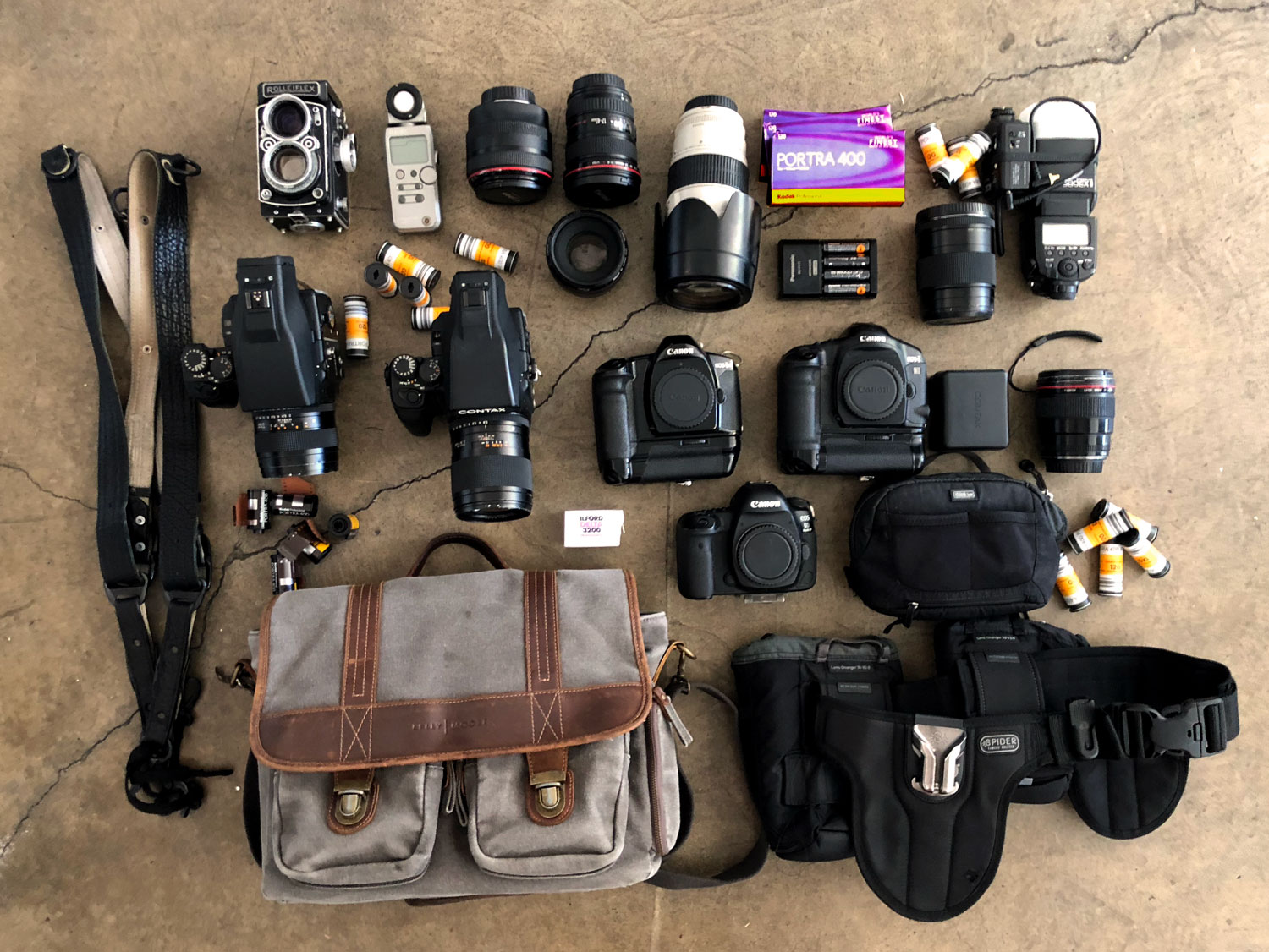 Braedon Flynn's Camera Bag Contents